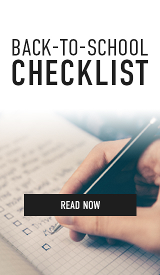 Picture of list. Back-to-School Checklist. Click to read now.